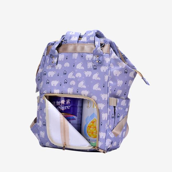 Summer Mommy Bags More Function Large Capacity Waterproof Mommy Both Shoulders Backpack Handbag Fashion Baby Diaper Nappy Package Joker Bag