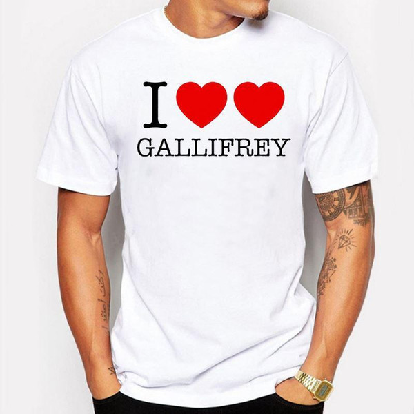 Camping & Hiking T-Shirts Men T Shirts 2017 Funny I love Gallifrey Printed T Shirt Crossfit T-Shirt Cool tee shirt homme de marque