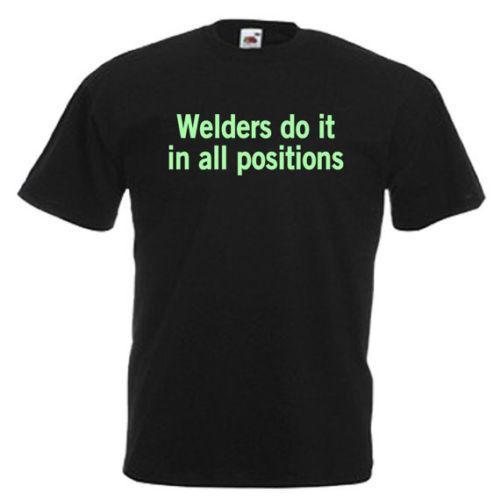 Kaynakçı Hediye Glow Karanlık Mens Yetişkinler T Shirt Komik ücretsiz kargo Unisex Rahat