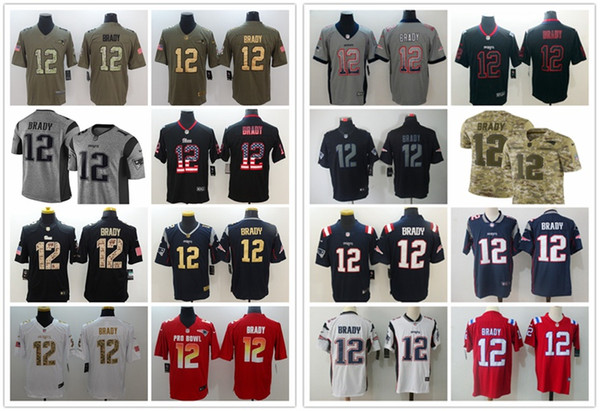 save off bd06d b94b9 2018 2019 New Mens 12 Tom Brady Olive Camo Jersey Patriots Football Jersey  100% Stitched Embroidery Patriots Tom Brady Color Rush Football Shirt From  ...