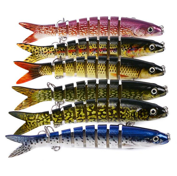 13.28CM 19G Swimbait Hard Bait Fishing Lure Professional Isca Artificial Lures Tackle Minnow 8 Segments Lure Bait Fishing Accessories US-812