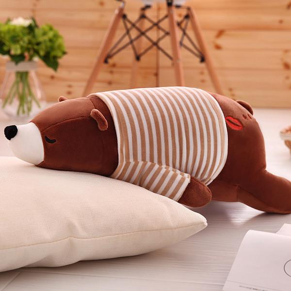 Special price large polar bear plush toys short plush prone bear cute creative Plush Doll birthday gift
