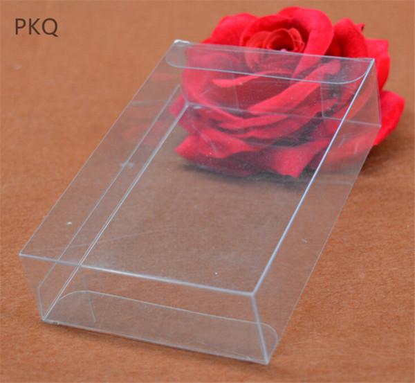 2x15x21cm High Quality Wedding Transparent PVC Box Clear Favor Gift Display Box Cosmetic Jewelry Plastic Packaging 10pcs