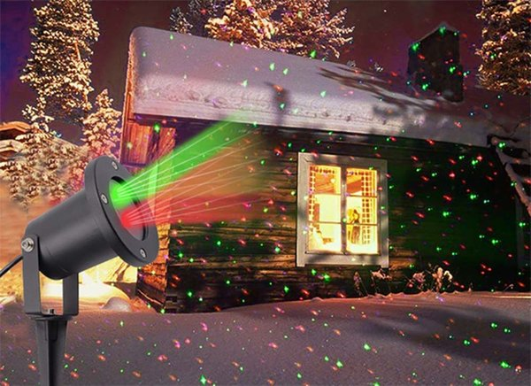 Outdoor Garden Star Spots Laser Projector R&G LED Lamp Christmas Party Lighting US plug