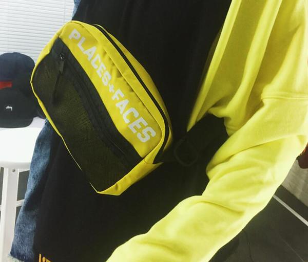 Chest bag P+F pockets for men and women retro sports 3M reflective shoulder Messenger designer waist bag