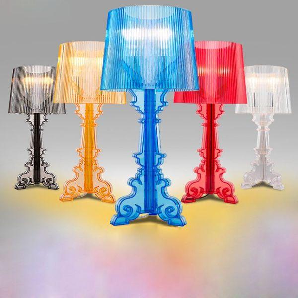 Lampada da tavolo a forma triangolare a forma di forcella romana Lampada da tavolo a soffietto in plastica