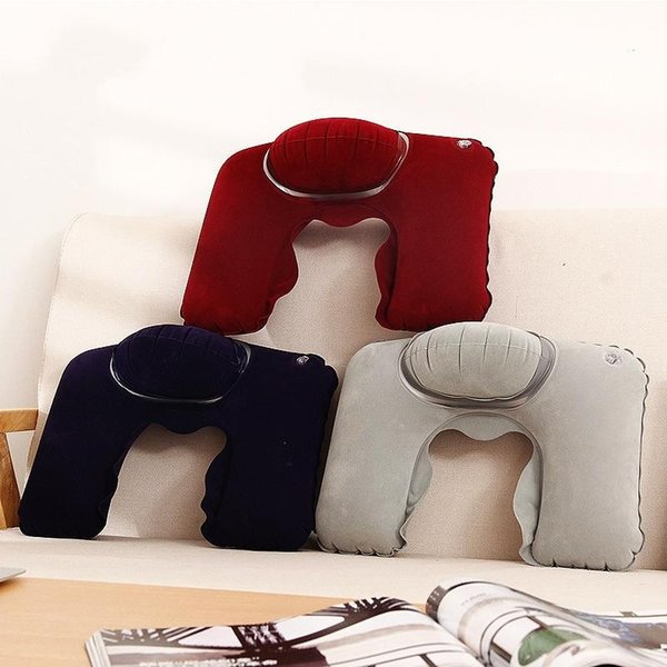 Outdoor Travel Head Rest Pillow Creative Inflatable U Shape Neck Pillows Easy To Accept Air Cushion Practical 2 8jx BB