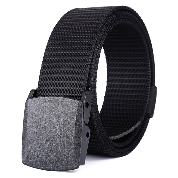 Hot Sale Plastic Exercise Outdoor Lightweight Nylon Environmental Protection Belt Smooth Square Plastic Buckle Tactical Belt