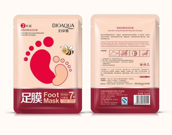 BIOAQUA feet mask Baby Foot Peeling Renewal Foot Mask Remove Dead Skin Smooth Exfoliating Socks Foot Care Socks For Pedicure