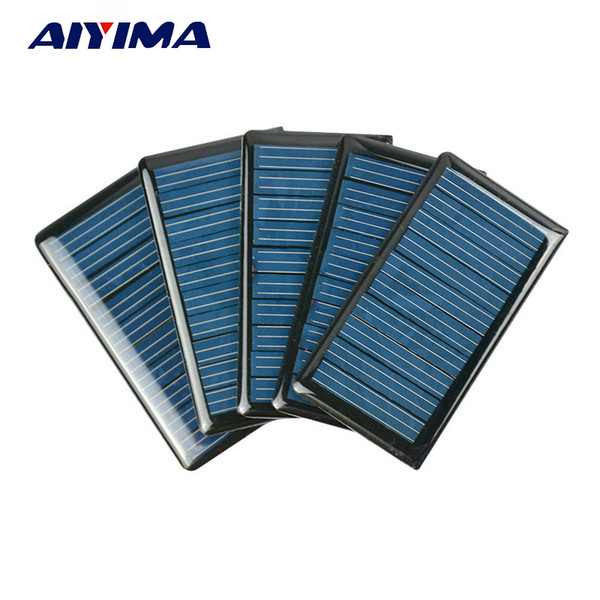 epoxy AIYIMA 10Pcs Panels Epoxy Plates Polycrystalline Spot 68x37MM 5V 60MA DIY Solar Battery Charger Painel Solars