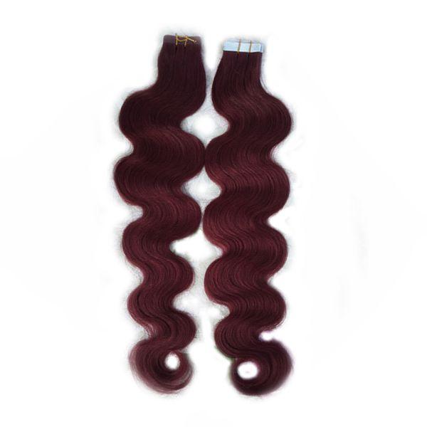 Nastro estensioni dei capelli Remy 40 pezzi Estensioni dei capelli trama di trama 20