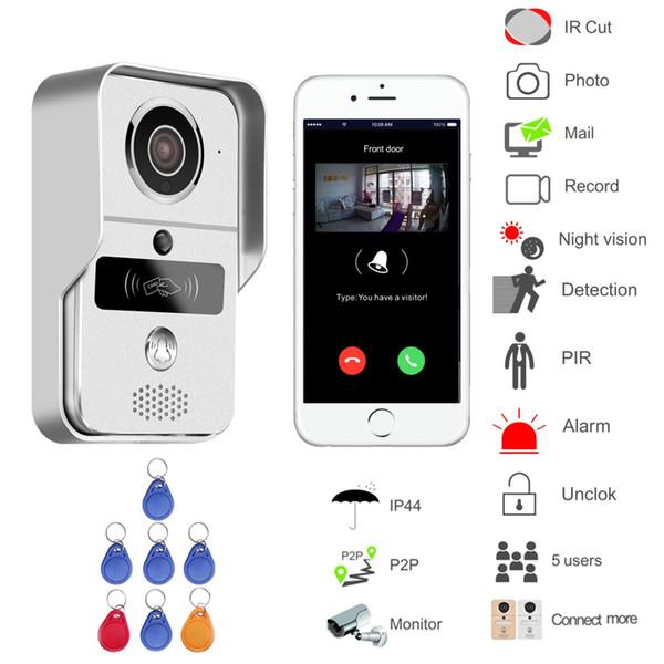 WIFI puerta de vídeo versión del teléfono inalámbrico noche mini cámara de vídeo de apoyo Intercom envío de Andorid control APP Smart Home gratuito