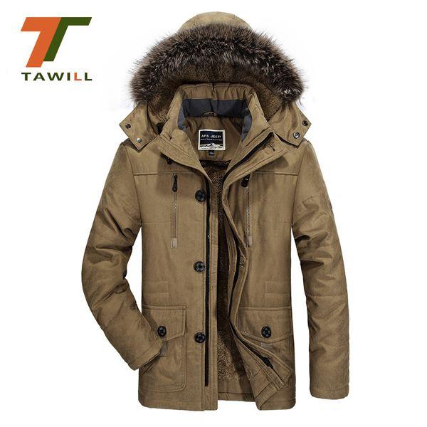 plus size 5XL 6XL new brand warm winter jackets men Thicken Long Coon Padded fleece Down parka coat men clothing
