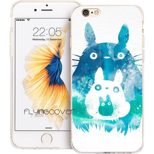 My Rainbow Totoro Clear Soft TPU Silicone Phone Cover for iPhone X 7 8 Plus 5S 5 SE 6 6S Plus 5C 4S 4 iPod Touch 6 5 Cases.