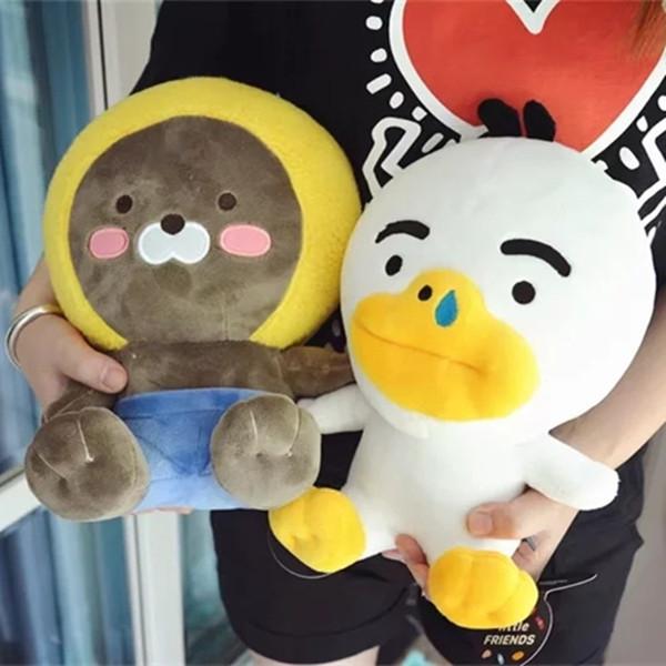 1pc 25cm Cute Kakao Friends Plush Toy Ryan Cocoa Plush Little Friends Dolls Cartoon Figure Soft Cushion Kids Doll Birthday Gift