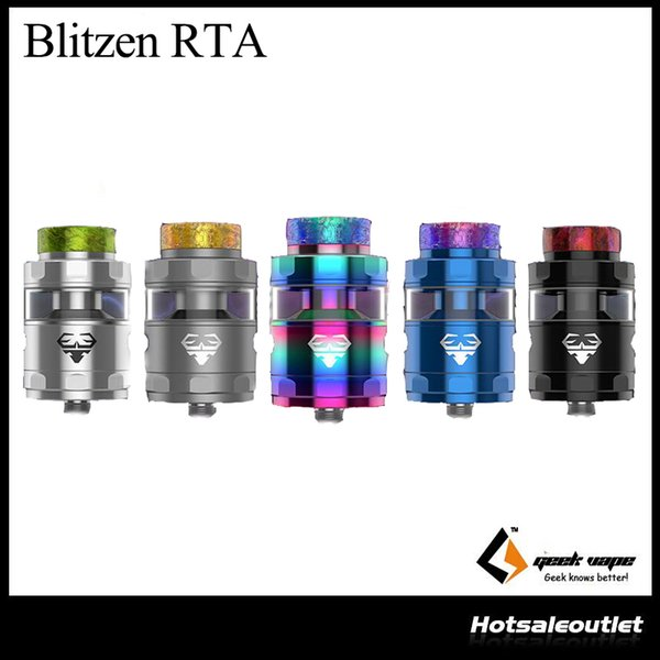 Authentic Geekvape Blitzen RTA Tank 24mm Diameter Build Deck Anti-leaking Design Atomizer Ecigarette Big Vapor Cloud RTA Tank Atomizer