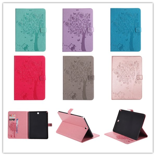 High quality case For Samsung GALAXY Tab A 8.0 T350 T351 T355 P350 pu Leather Flip Stand Cat Tree Pattern Cover Funda Skin Shell