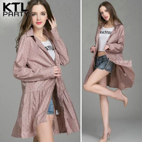 KTLPARTY Womens Fashion raincoats female outdoor travel rainwear lady waterproof sunscreen walking poncho wind-breaker