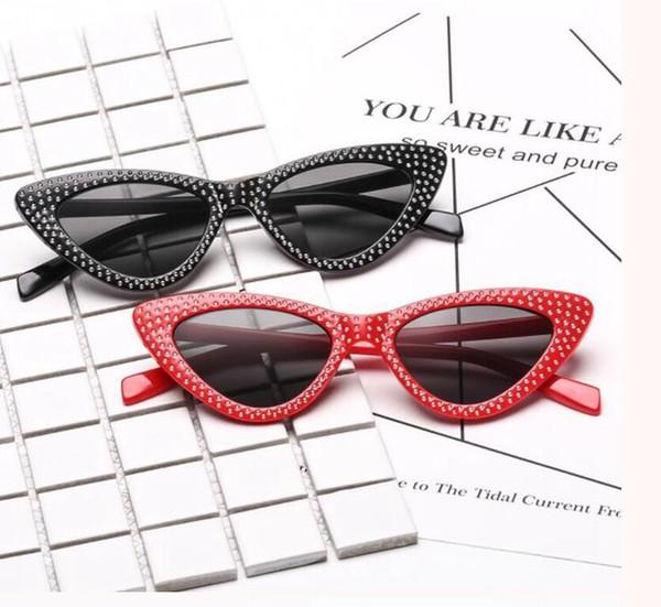 Moda Pequeno Olho De Gato Óculos De Sol Das Mulheres de Luxo Da Marca de  Diamante 855b98f5e0
