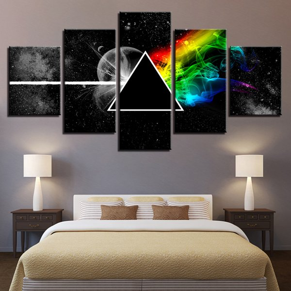 Wandkunst Poster Modulare Leinwand HD Drucke Gemälde 5 Stücke Pink Floyd Rock Musik Bilder Wohnkultur Für Wohnzimmer Rahmen