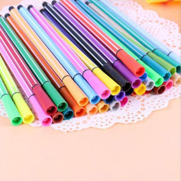 top popular Children Painting 36 24 18 12 Non-toxic Color Washable Watercolor Pen Mark Painting Children 2021