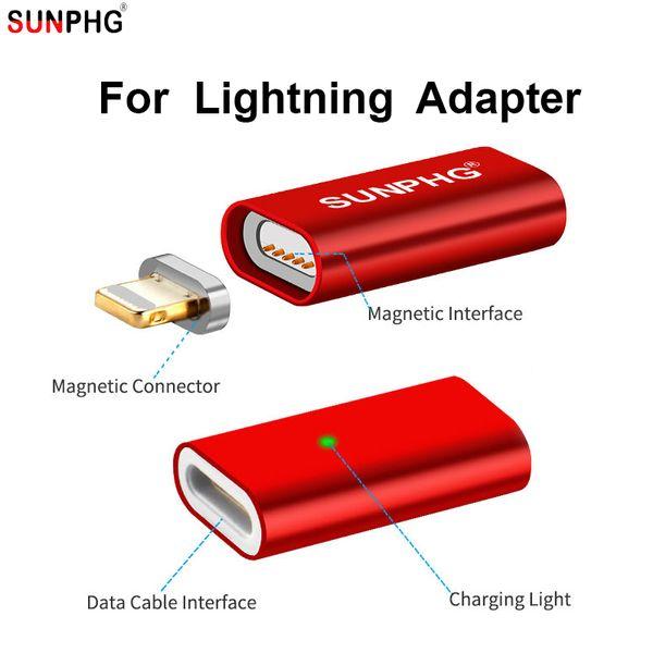c31fd1709cd SUNPHG OEM Enchufe de carga magnética para iOS 220 V Adaptador XPhone x  Metal Cabeza Imán