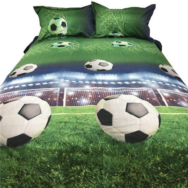 Grosshandel Fussball Bettwasche 3d Bettwasche Sets Quilt Bettbezug Bett In Einem Blatt Der Tasche Spread Bedspread Bedset Kissenbezug Queen Size Doubl