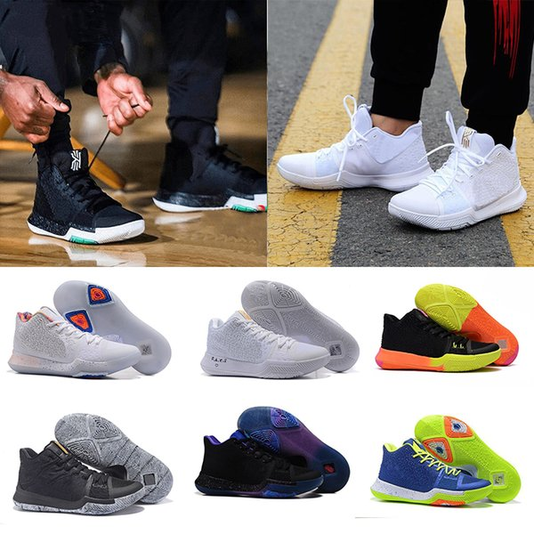 new concept 5cfdd 8c6d7 Cheap 2018 Newest Arrival Kyrie Irving 3 Signature Game Basketball Shoes  For Top Quality Blue Black Duke Men'S Sports Sneakers Size 40 46 Sneakers  On ...