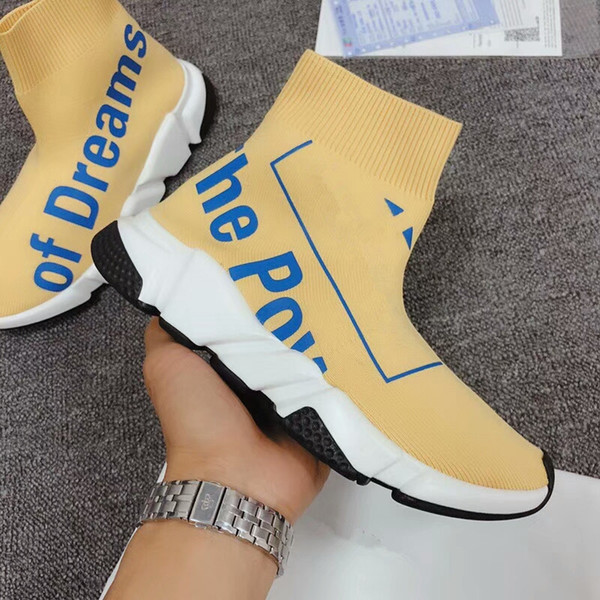 2020 men women designer socks shoes speed trainer glitter pink blue fashion luxury mens trainers casual canvas sneakers platform bll18041901
