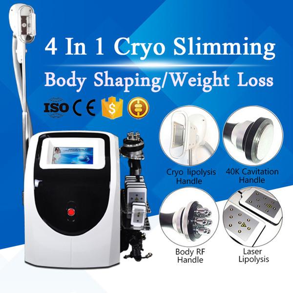Cryo Lipolysis Fat Freezing Laser Slimming Machine 650nm Lipo Laser Fat Burning 40K Cavitation Weight Loss Multipolar RF Skin Tightening