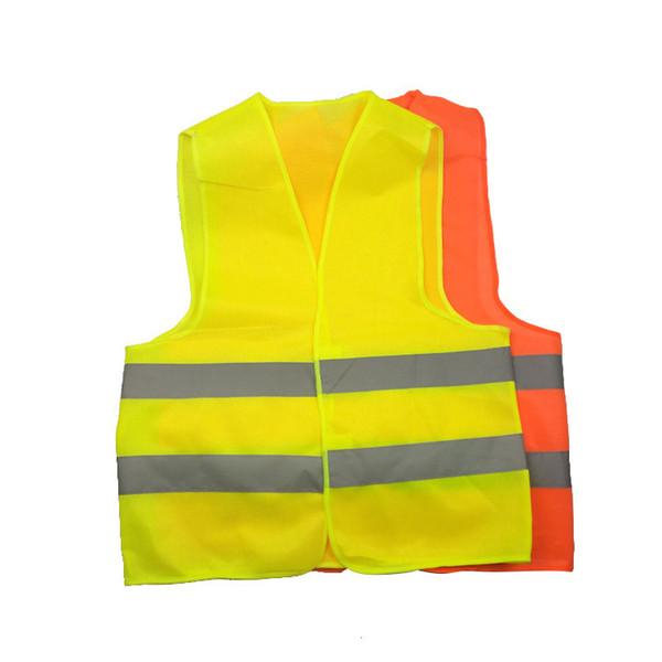Nova Alta Visibilidade Trabalhando Colete de Construção de Segurança Aviso de Tráfego reflexivo colete de Trabalho Verde Roupas de Segurança Reflexiva 50 pcs