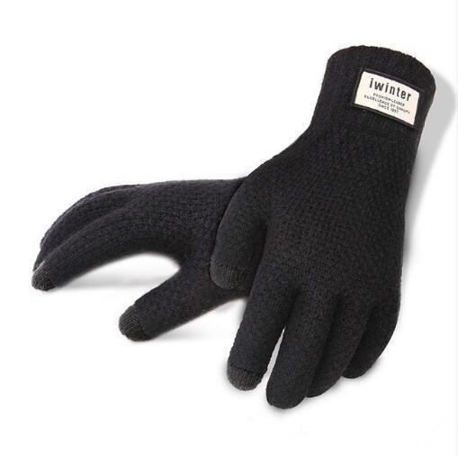 Touchscreen Luxus iwinter Anti-Rutsch-Kapazität Touchscreen-Handschuhe warme Winterhandschuhe Touchscreen