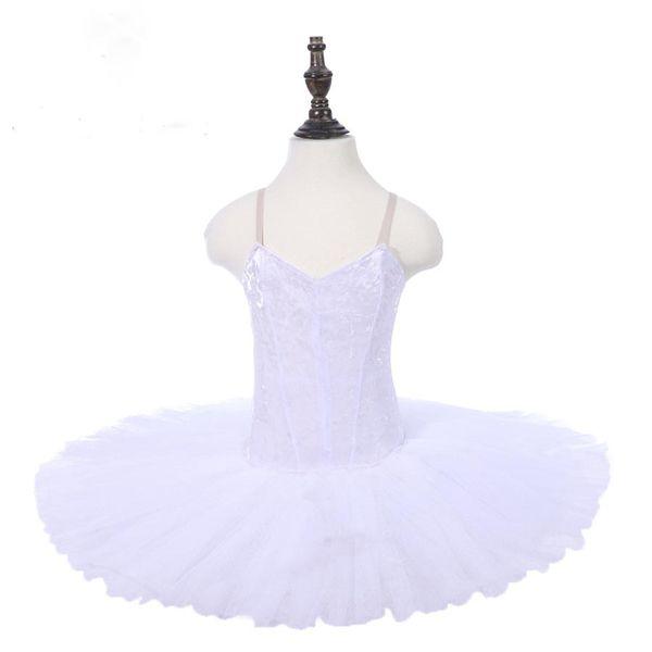 Sleeping Beauty Performance Dance Stage Tutu Adult White Swan Ballet Tutu Pancake Costumes Dress Dance Loetards Girls Without Decoration