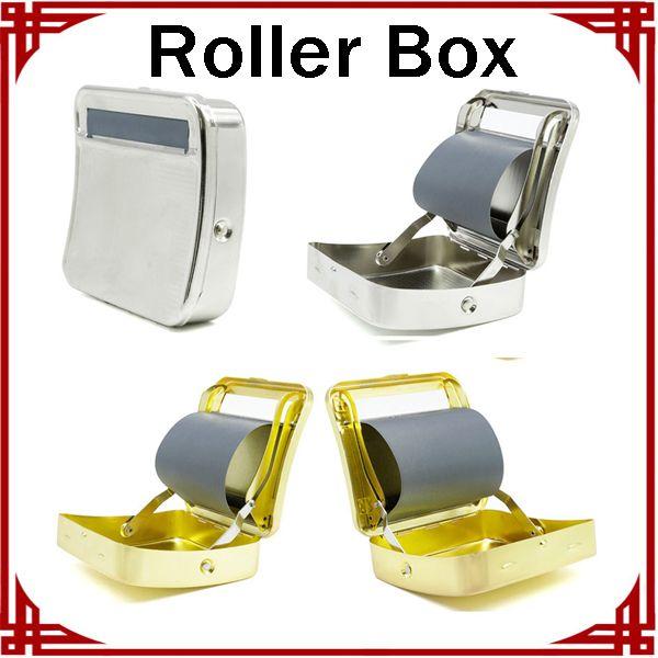Zuverlässige Qualität Rechteck Tabak Roller Box Matel Zigarettenpapier Rollen Zigarettenpapier 3 Farben Zigarettenetui