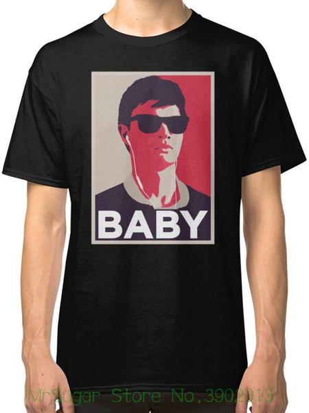 Baby Driver Black T-shirt Tees Clothing Tshirt Men Black Short Sleeve Cotton Hip Hop T-shirt Print Tee Shirts