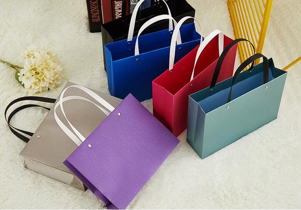 100PCS/LOT Large Size 25.5*18*cm Paper Shopping Bag Paper Gift Packaging Bag Can Custom Company's LOGO or Design