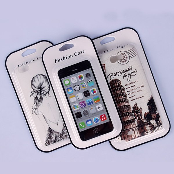 50pcs PVC Packaging Package Retail Box with insert handle For iphone 8/8 plus Mobile phone Case Gift Pack Accessories