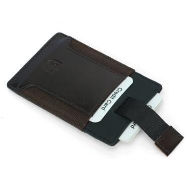 RFID Vintage Blocking Genuine Leather Money Clip Men Slim Thin Mini Wallet Male Small Purse Credit Card