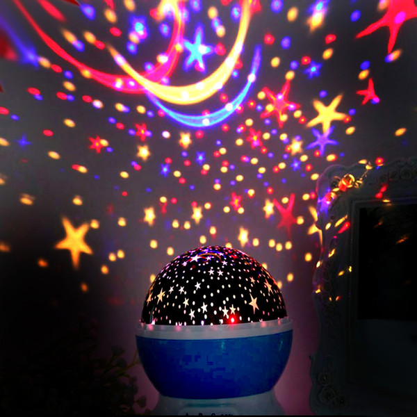 top popular Christmas dream rotating Projection lamp Rotation Starry moon Star master Night Light Sky Romantic Decorating Hallowmas Birthday Party best 2021