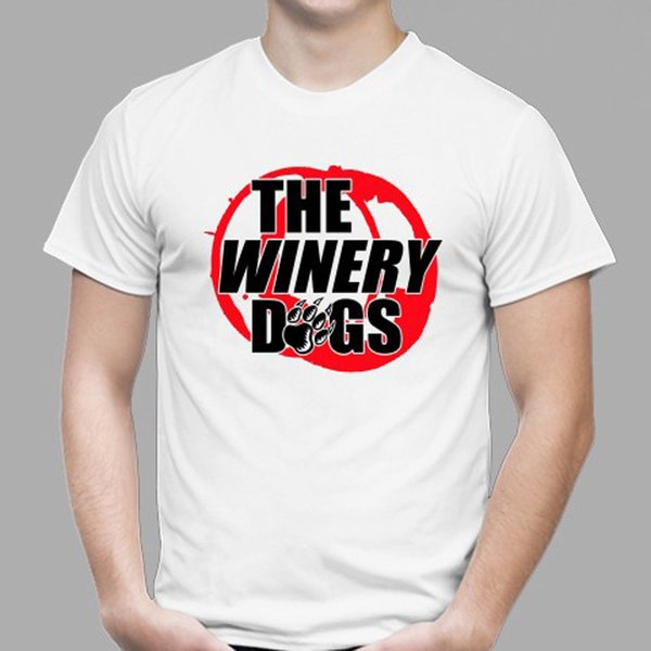 2018 Short Sleeve Cotton T Shirts Man Clothing New THE WINERY DOGS Rock Band Logo Men's White T-Shirt Size S to 3XLBlack Style