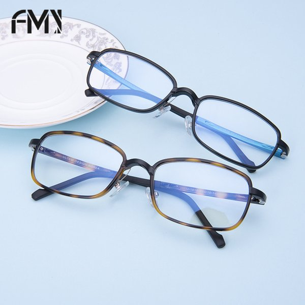 FMY Transparent Glass Lens Framework For Men And Women Fashion Flat Light Anti-Blue Of Eye Protection Glasses Bright Black 1818