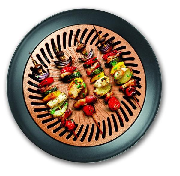 NEW Ultra-Durable Aluminum Titanium Ceramic 13-Inch Nonstick Smokeless Stovetop Grill Pan Dishwasher Safe