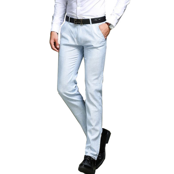 2018 Spring and Summer New Men's Business Casual pants Men's Fashion Straight Suit pants Size 29-33 34 35 36 38