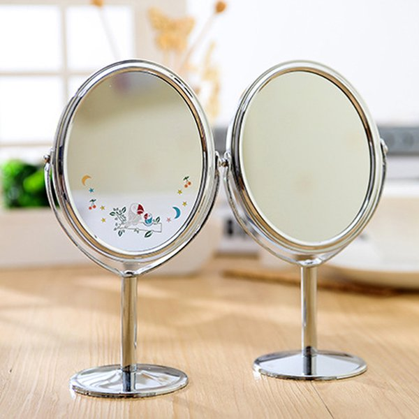 Hot Sale Lady Table Mirror Desk Standing Dresser Cosmetic Makeup Mirror Double Sided Magnification Espelho