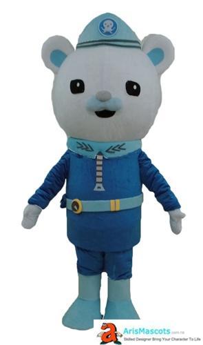 어른 사이즈 Octonauts Captain Barnacle Mascot Costume 아이들을위한 만화 마스코트 의상 Birthday Party Arismascots의 맞춤 마스코트