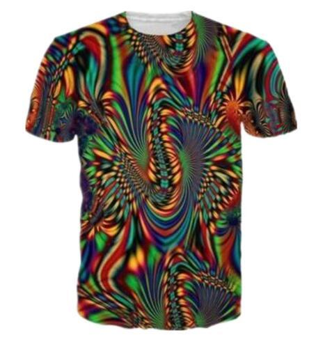 New Fashion Men/Women 3D T Shirts Print Trippy Psychedelic Whirlpool Colorful Graphic T Shirt Hip Hop Tops Casual Tees Clothing