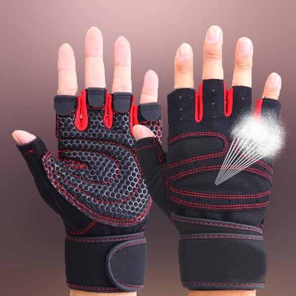 Nueva alta calidad deportiva Fitness Guantes de levantamiento de pesas para hombres y mujeres Gimnasio Body Building Training Glove
