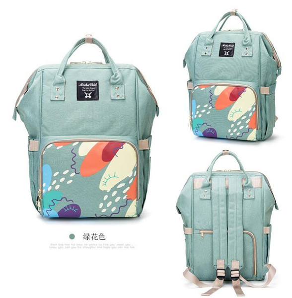 best selling Multifunctional Mommy Backpacks Nappies Bags Diaper Bags Backpack Maternity Large Capacity Outdoor Travel Bags BG02 3 PCS