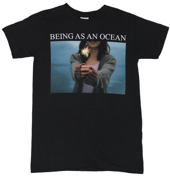 Being as An Ocean Mens T-Shirt Sparkler Girl Photo Image Under Name Mens 2018 fashion Brand T Shirt O-Neck 100%cotton