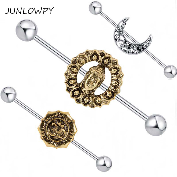 Earring Piercing Mix 3 style 20pcs Wholesales Ear Industrial Barbell Ring Piercing Scaffold Bar Body Piercing Jewelry